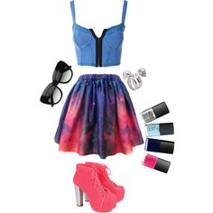 """""""Galactic Gazer"""" by cookiemonstar on Polyvore"""