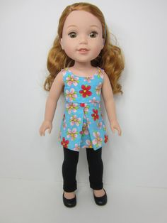 14.5 inch doll clothes   Pretty flowered pleated by JazzyDollDuds
