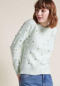 Pom-Pom Knit Sweater in Confetti