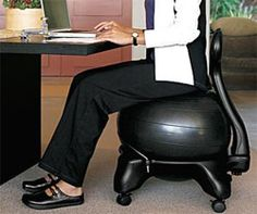 Gaiam Classic Balance Ball Chair – Exercise Stability Yoga Ball Premium Ergonomic Chair for Home and Office Desk with Air Pump, Exercise Guide and Satisfaction Guarantee Chair Exercises, Ball Chair, Sr1, Stability Ball, Medicine Ball, Ergonomic Chair, Workout Guide, Just In Case, Home Furniture