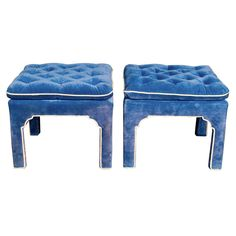 pair of hollywood regency style ottomans