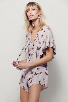Free People Womens STEALING KISSES ROMPER - Bohemian Summer Fashion Trend 2017