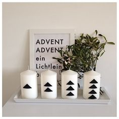 #adventskerzen schwarz weiss #xmas