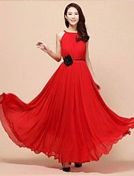 Women's Bohemia Ball Gown Chiffon Sleeveless Maxi... – AUD $ 23.13