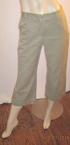 Gap-Beige-Khaki-Size-10-32-W-X-23-Inseam-100-Cotton-Cropped-Pants