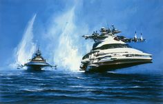 John Berkey  |  i had two textbook covers in middle school that the Navy gave us--this was one.