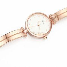 KIMIO KW6041S Sweet Round Dial Slim Bracelet Band Quartz Woman Wrist Watch Rose