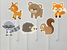 Items similar to Woodland Baby Shower Cupcake Toppers, Printable Baby Shower Cupcake Toppers, Baby Shower Cupcake Toppers, Woodland Animals, Forest ( on Etsy Forest Animals, Woodland Animals, Zoo Animal Cupcakes, Nursery Banner, Baby Shower Cupcake Toppers, Bear Decor, Party In A Box, Woodland Baby, Woodland Creatures