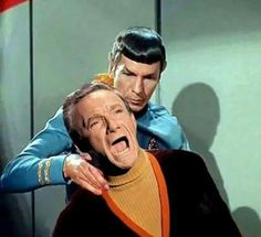 Spock demonstrating how to effectively deal with scene-stealing   drama queens. Take note, Major West.