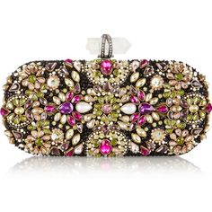 Marchesa Lily Swarovski crystal-embellished mesh box clutch and other apparel, accessories and trends. Browse and shop 10 related looks.