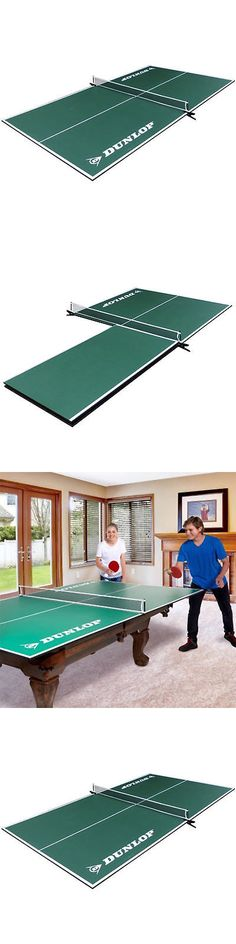 Tables 97075: Ping Pong Tournament Size Folding Tennis Table Tennis 4 Piece  Conversion Top