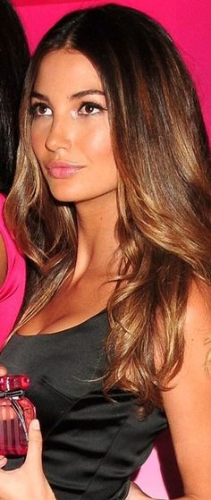 Lily Aldridge. The makeup (and hair)!