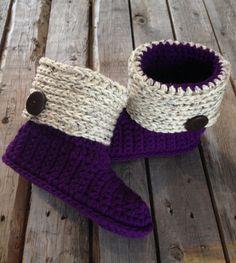 Zapatillas de ganchillo zapatillas mujer zapatillas Botas