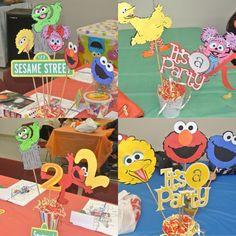 Sesame Street Centerpiece sticks Build your own by KaylieMP