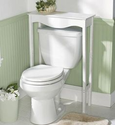 Table Over The Toilet...why Didnu0027t I Think Of This? Looks So Much Better  Then Those Ugly Looking U0027space Saveru0027 Things That Go Over The Toilet. Muchu2026