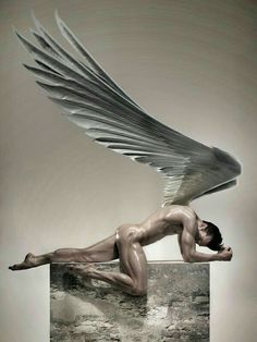 Everything an angel should be. Haunting and intimidating at the same time. In short, frickin' sexy and a total BAMF. Angels Among Us, Angels And Demons, Art Masculin, Male Angels, Male Fallen Angel, Angel Man, Angel Wings, Black Dagger Brotherhood, Ange Demon