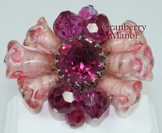 Vendome Coro Brooch Pin Cranberry Pink by CranberryManor on Etsy