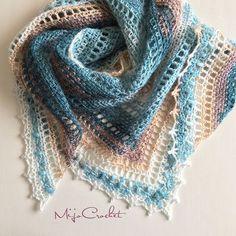 After a good block this #taigashawl is heading to @favoritgarner 's yarn shop for display Yarn: #scheepjesstardust Hook: 4.0 mm Pattern: Taiga shawl, available on my blog  . Äntligen är denna #taigashawl blockad och redo att flytta till @favoritgarner 's lagerbutik för att inspirera Garn: Scheepjes Star Dust från @favoritgarner Nål: 4.0 mm Mönster: Taiga sjal, som finns på min blogg  . #mijocrochet #favoritgarner #scheepjes #crochetshawl #virkadsjal #virkmönster #crochetpatte...