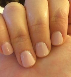 The perfect nude! CND shellac: 2 coats Strawberry Smoothie with 1 coat Romantique on top