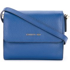 Cerruti 1881 fold over cross body bag ($188) ❤ liked on Polyvore featuring bags, handbags, shoulder bags, blue, fold over handbag, blue crossbody, foldover crossbody purse, blue shoulder bag and fold over crossbody purse