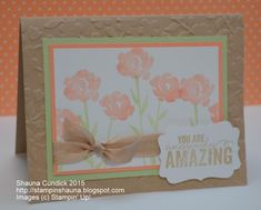 Soft Cantaloupe Painted Petals by stampinshauna - Cards and Paper Crafts at Splitcoaststampers