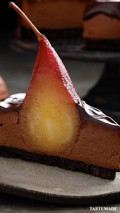 Kraft Recipes, Wine Recipes, Dessert Recipes, Cooking Recipes, Cooking Tips, Low Carb Cheesecake Recipe, Chocolate Cheesecake, Pears In Red Wine, Plum Varieties