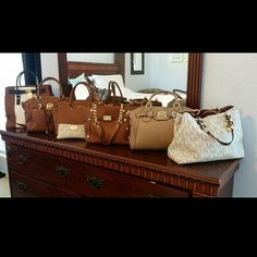 Michael Kors Collection ❤ ❤ $20 OFF TODAY ONLY!! 1000% authentic. In excellent condition, some are even brand new. Let me know which one you'd like to purchase so I can make a separate listing    I paid retail price for all of them, just looking to get some $$ back Discount available if purchasing more than one   MK Colorblock Hamilton - $320 (brand new) MK Hudson (Luggage/Camel) - $220 (like new) MK Selma (Luggage/Camel) - $250 (SOLD) MK Wristlet - $75 (BNWT & Receipt) MK Studded - $160 MK…
