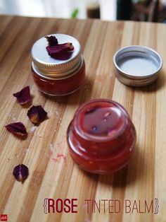 How-to: Make tinted lip balm with rose petals and cocoa butter!