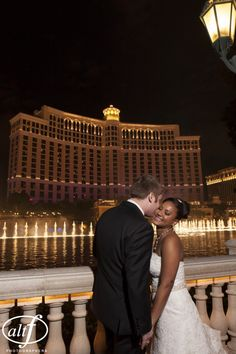 Wedding would have to be in Vegas.  And what better place than the Fountains at Bellagio?!