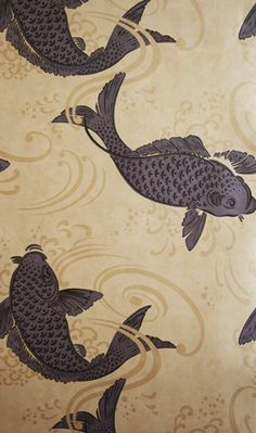 Inspiration from Bathrooms.com: Derwent - Wallpaper from Osborne Little ALMOST got this for the bathroom