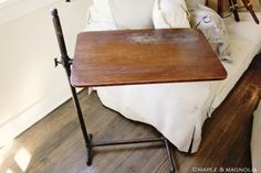 Ugh...I would LOVE to stumble upon a vintage hospital table like this.  LOVE.