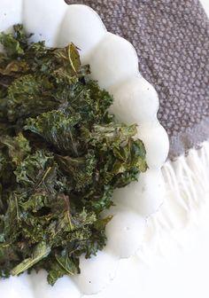 Healthy Snack Recipe ..... Miso-Lemon Kale Chips from Sacramento Street .....