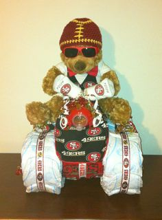 San Francisco baby shower gift /football by DivaliciousDiapers, $125.00