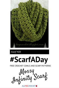Cushy and soft free crochet infinity scarf pattern from @olgalacycrochet! #ScarfADay