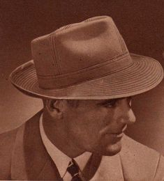 mens hats came in several common styles such as the fedora, trilby, straw hat, homburg and porkpie. Learn about and buy style vintage men's hats 1940s Fashion, Victorian Fashion, Vintage Fashion, Fashion Fashion, 1920s Mens Hats, Wattpad Book Covers, Vintage Men, Vintage Hats, Vintage Prom