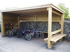 Garden Bike Storage, Outdoor Bike Storage, Bicycle Storage, Car Shed, Bike Shed, Garage Velo, Bike Shelter, Best Tiny House, Pallet House