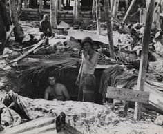 """The Lousy Lousy Lounge,"" Tarawa, November 1943 
