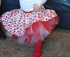 DIY little girls tutu skirt