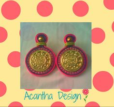 #Zarcillos #Soutache #Moda Enamel, Accessories, Design, Fashion, Ear Studs, Isomalt, Moda, Polish