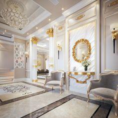 Home Design Ideas - Best Home Design Ideas Wih Exterior And Interior Design Luxury Homes Interior, Luxury Home Decor, Interior Exterior, Home Interior Design, Drawing Room Furniture, Foyer Flooring, Classic Interior, Cool House Designs, Ceiling Design