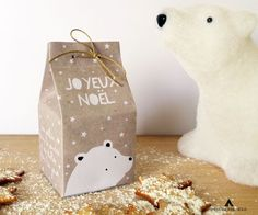 Printable Boîte Noël via Impressionne nous. Click on the image to see more!
