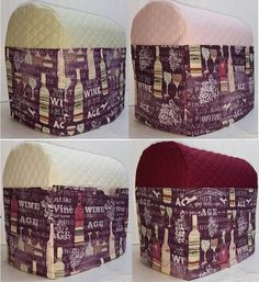 Check out this item in my Etsy shop https://www.etsy.com/listing/160447676/quilted-purple-wine-cover-for-kitchenaid