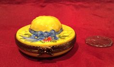 Limoges Trinket Boxes Limoges Hat Trinket Box Miniature Limoges sunhat Hand painted Limoges hat Limoges France Peint Main signed Limoges by TopviewTreasures on Etsy https://www.etsy.com/listing/272665018/limoges-trinket-boxes-limoges-hat