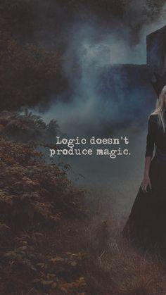 A lógica não produz mágica