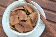 Kanelkiks med kikærtemel - note: underlig konsistens fra kikærtemelet, ikke et hit