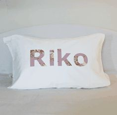 a pillowslip for Riko