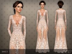 Long transparent dress with flowers pattern. Dress presented in 1 variant. Found in TSR Category 'Sims 3 Female Clothing' Sims 4 Hair Male, Sims 4 Black Hair, Sims 3 Cc Clothes, Sims 4 Clothing, Female Clothing, Wedding Dresses With Flowers, Flower Dresses, Sims 4 Mods, Sims 4 Wedding Dress