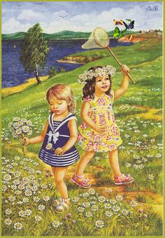 """Photo from album """"Лето"""" on Yandex. Vintage Pictures, Art Pictures, Photos, Little People, Little Girls, Paradise Pictures, Foto Gif, Picture Composition, Gif Animé"""