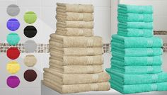 Buy 10-Piece Egyptian Cotton Towels - 10 Colours UK deal for just: £14.99 Dry up in comfort with the 10-Piece Egyptian Cotton Towels      Luxurious towels for your bathroom      Includes: 4 face towels, 4 hand towels and 2 bath towels      100% Egyptian cotton      See Full Details for size guide      Save 70% on the 10-Piece Egyptian Cotton Towels BUY NOW for just GBP14.99