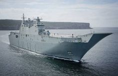 Mar. 13, 2014: LHD CANBERRA [III] passes through Sydney Heads for the first time - ABIS Tom Gibson, RAN.